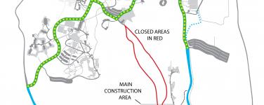UCSC Bike Path Closure Map