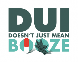 D.U.I. doesn't just mean booze (picture of marijuana leaf and prescription pill)